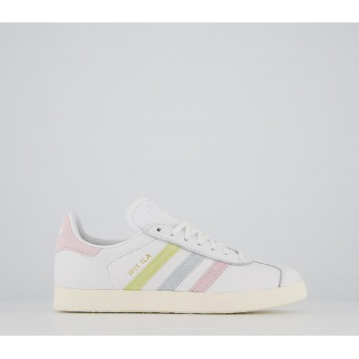 adidas Gazelle Trainers White Clear Pink Tint W11 1la Exclusive - Hers trainers for Women ONOFH9644