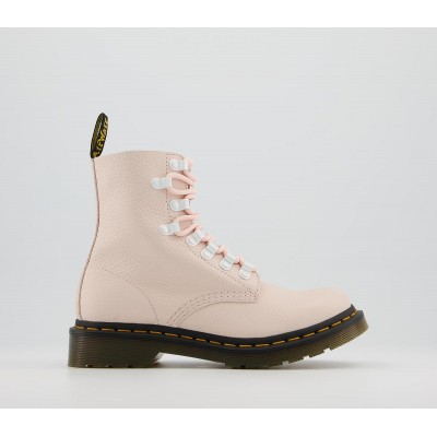 Dr. Martens 1460 Iridescent Hardware Boots Shell Pink - Ankle Boots for Women K96FN3406
