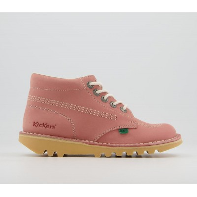 Kickers Kick Hi Boots Pink - Womens Boots for Women On Line 77RVB954
