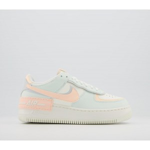 Nike Air Force 1 Shadow Trainers Sail Barely Green Crimson Tint - Hers trainers for Women 38W2V1940