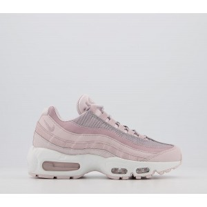 Nike Air Max 95 Trainers Barly Rose Plum Chalk Silver Lilac - Hers trainers for Women Clearance BE9UT4435