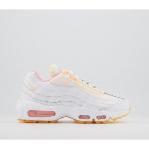 Nike Air Max 95 Trainers White Artic Punch Melon Tint - Hers trainers for Women In Store GXH3F5958