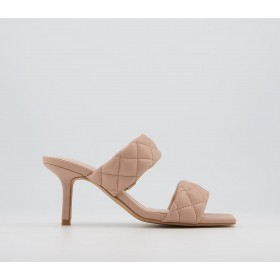 Office Madina Quilted Mules Nude - Mid Heels for Women Cut Off 1YQTP6118