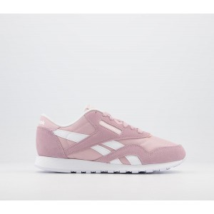 Reebok Cl Nylon Trainers Pink White White - Hers trainers for Women UNKRQ805