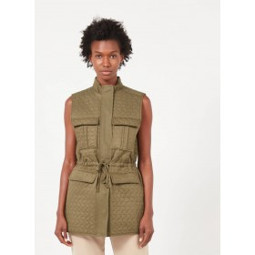 MINIMUM Women's ALMAS - Green Sleeveless quilted jacket Or Sale Near Me ROLS607