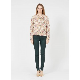 SINEQUANONE Women's Multicolored Floral print jacket with classic collar new look OBID354