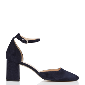 JONAK Women Blue Leather Mary Janes with square heels Fit ZBAA934