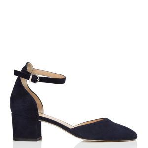 JONAK Women's Blue Leather Mary Janes with square heels hot topic CCJR567