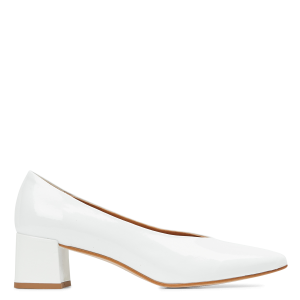 MELLOW YELLOW Women's PINA - White Patent leather pumps with pointed toe in new look XCJA339