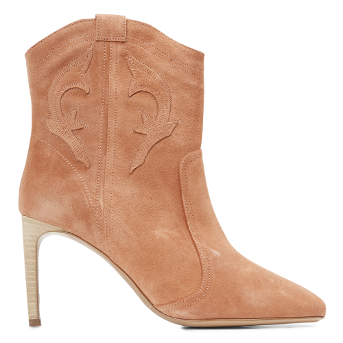 BA & SH Women CAIT - Pink Heeled leather mid-calf boots The Top Selling FBMB339
