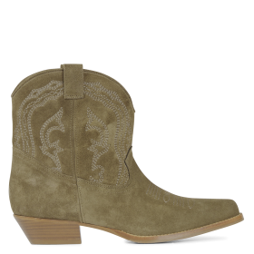 BA & SH Women COLT - Green Leather cowboy-style boots high quality UYIE304