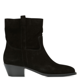 BA & SH Women's CHESTER - Black Heeled leather mid-calf boots stores HVRX160