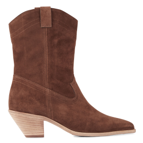 BA & SH Women's CLAU - Brown Leather mid-calf boots with pointed toe hot topic GUBA521