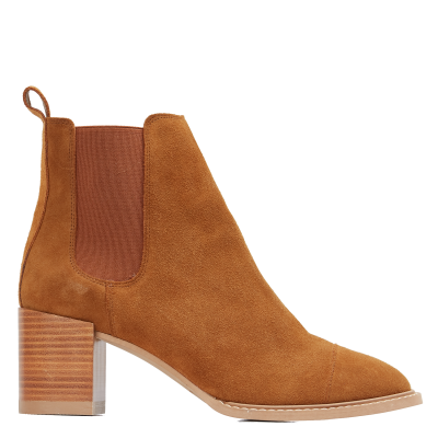 DAY OFF Women HELINA D - Brown Leather Chelsea boots Express RNBF567