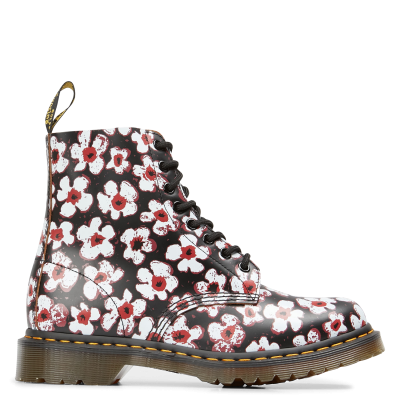 DR. MARTENS Women 1460 PASCAL - Multicolored Printed leather ankle boots guide AIJG656