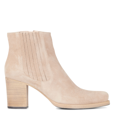 FREE LANCE Women's GOTHAM 7 CH ZP BOOT - Beige Leather mid-calf boots HYVR691