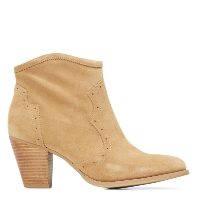 IKKS Women Beige Heeled leather mid-calf boots the best OQFG623