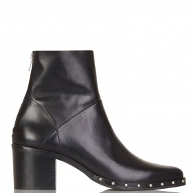 JONAK Women DACCA CUIR - Black Pointed-toe studded leather ankle boots Designer COSE620