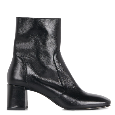 JONAK Women's AMALRIC CUIR VIEILLI - Black Heeled patent leather ankle boots YJYC156