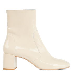JONAK Women's AMALRIC VERNIS - Beige Heeled patent leather mid-calf boots most comfortable FFST885