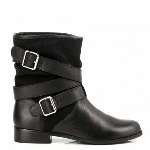 MELLOW YELLOW Women's OCATHIA - Black Fur-lined leather mid-calf boots IAFP981