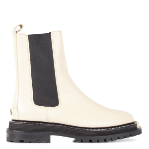 SANDRO Women LIAM - White Mid-calf boots with treaded sole Ships Free QKIJ732
