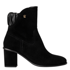 ZADIG&VOLTAIRE Women's LENA - Black Heeled suede mid-calf boots on style VLZS484