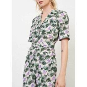 MAJE Women's IZER - Multicolored Flower print playsuit with tailored collar JFDK988