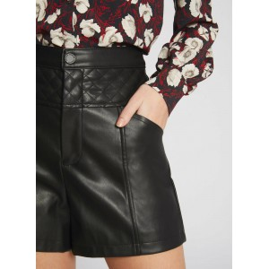 MORGAN Women's Black Quilted shorts lifestyle GVPP264