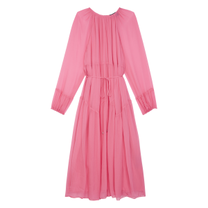 THE KOOPLES Women's Pink Long round-neck dress on clearance SANK573