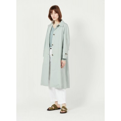 BELLEROSE Women's VERA - Blue Cotton-blend trench coat with classic collar PXSI371