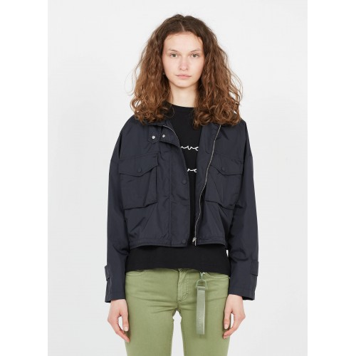 MARC O'POLO Women Black Zip-up high-neck jacket Trends 2021 OWOF356