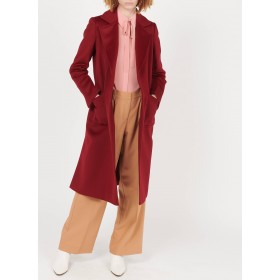 MAX&Co. Women's RUNAWAY1 - Red Wool coat with tailored collar hot topic HZPX292