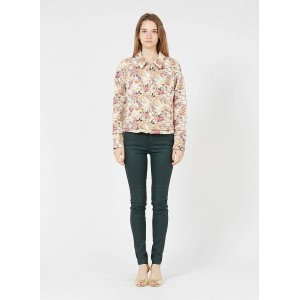 SINEQUANONE Women's Multicolored Floral print jacket with classic collar New Look FNEH306