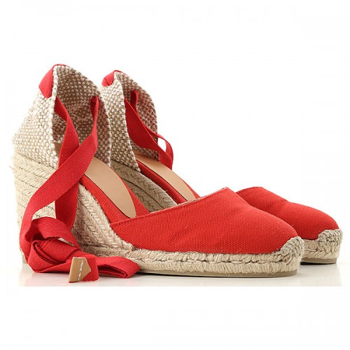 Castaner Women Wedges Red•Other colors: Beige Best XAPD613