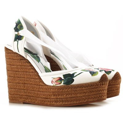 Dolce & Gabbana Women Wedges White•Other colors:Roses New Style PSBG833