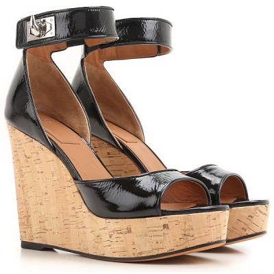 Givenchy Women Wedges Black Trends 2021 NKNX898