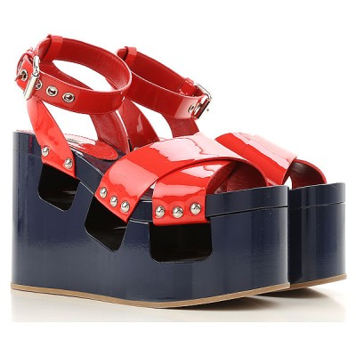 Miu Miu Women Wedges Blue•Other colors:Red In Store ELDW839