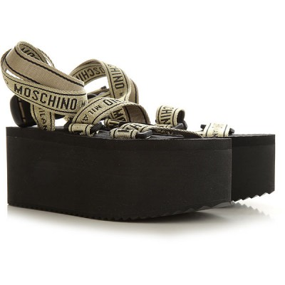 Moschino Women Wedges Black•Other colors:Gold spring 2021 RVYW254