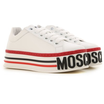Moschino Women Wedges White For Sale LMWQ948