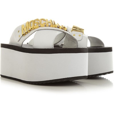 Moschino Women Wedges White•Other colors:Black The Top Selling VIRX821
