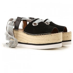 See By Chloe Women Wedges Black•Other colors: White,Amber WSGE692