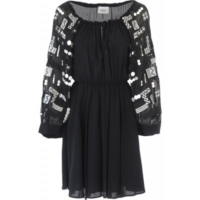 Dondup Women Dresses New Black•Other colors:Silver Casual Collection VWEY839