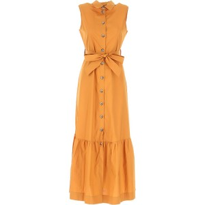 Pinko Women Dresses New Leather Brown guest wedding Hot Sale FXDO329