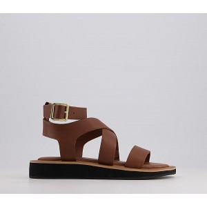 Office Savor Ankle Strap Sandals Tan Leather - Women's Sandals for Women New Style JZTFJ2554