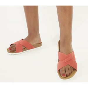 Office Soho Cross Strap Sandals Coral Nubuck - Women's Sandals for Women Collection 58PFB782
