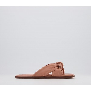 Office Stassy Soft Tubular Mules Pink Leather - Women's Sandals for Women FWLIY8326