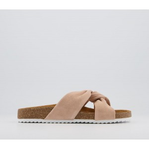 Office Sustain Twisted Footbed Sandals Nude Suede - Women's Sandals for Women Z26I66161