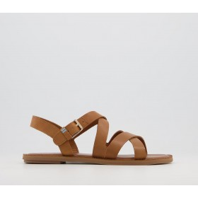 TOMS Sicily Sandals Tan Leather - Women's Sandals for Women most comfortable LY8XD5036