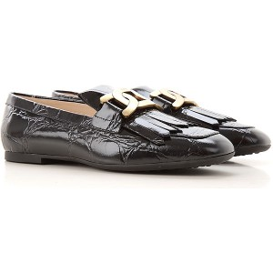 Tod's Women Loafers Black Fitted XMJP753